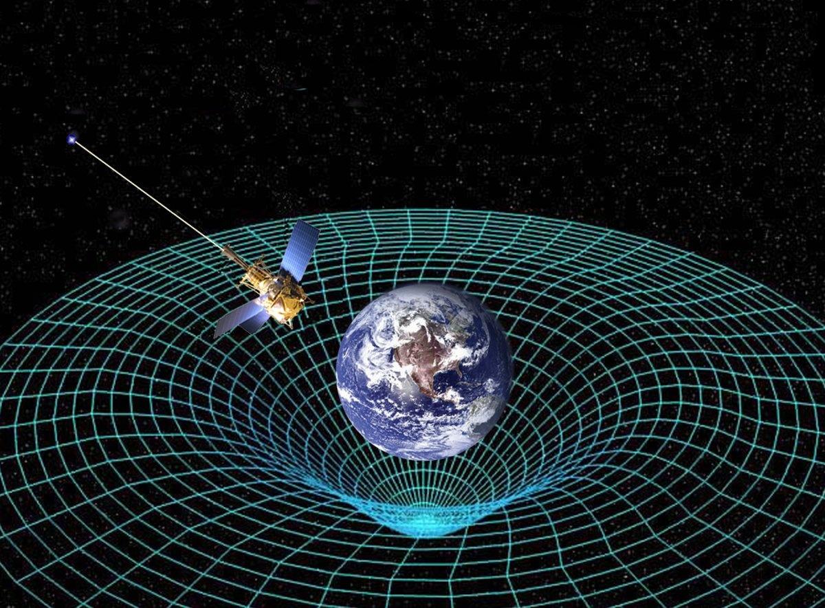 فضا-زمان  آشنایی با امواج گرانشی 16 2 13 141754gpb circling earth