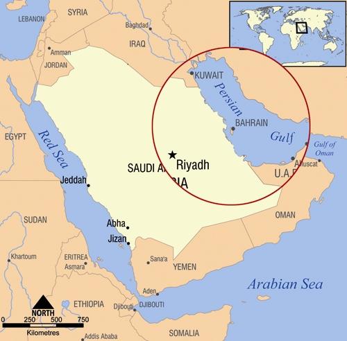 نقشه کشور بحرین