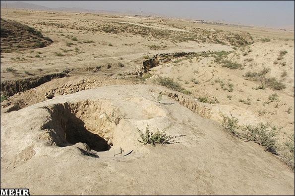 کشف و غارت محوطه باستانی توسط حفاران غیر مجاز
