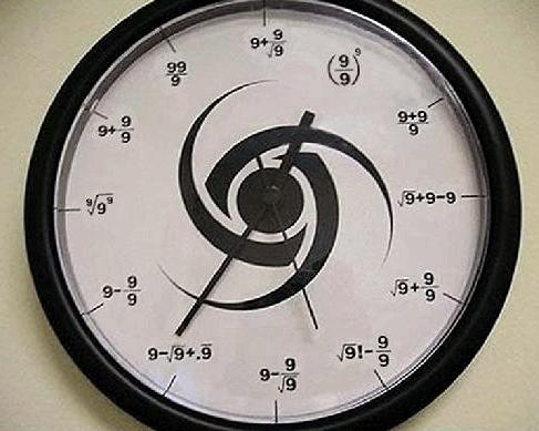 ساعتی با شماره 9