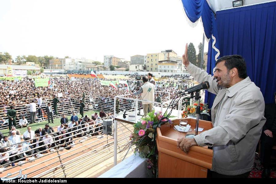 سخنرانی احمدی نژاد در جمع مردم گلستان