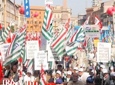 اعتراضات گسترده کارگری درایتالیا