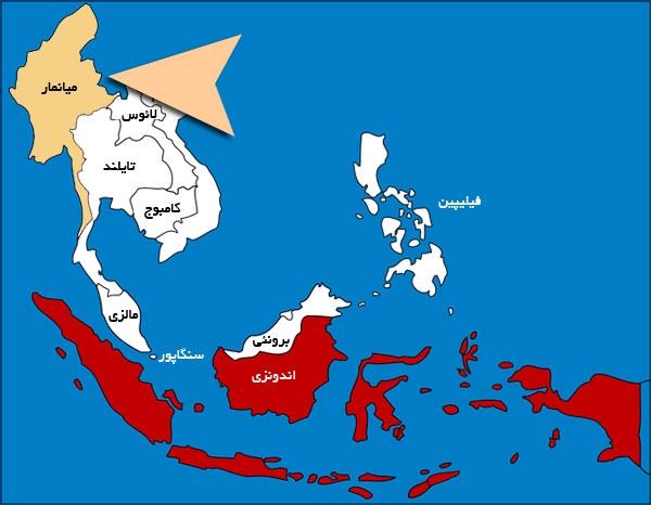 Mianmar map