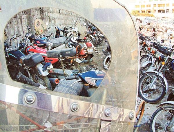 موتورسیکلتهای توقیفی بعد از 6 ماه به فروش میرسند