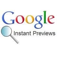 google instant prevew