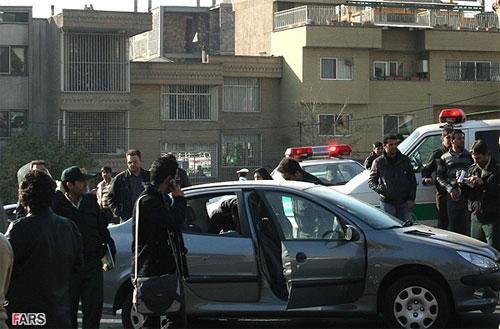 خودروی دکتر عباسی بعد از ترور