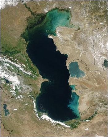 نقشه دریای خزر