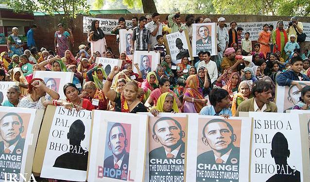 اعتراض مردم دهلی نو به حضور اوباما در هند