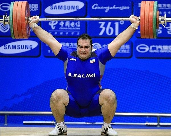 سلیمی قهرمان وزنه برداری