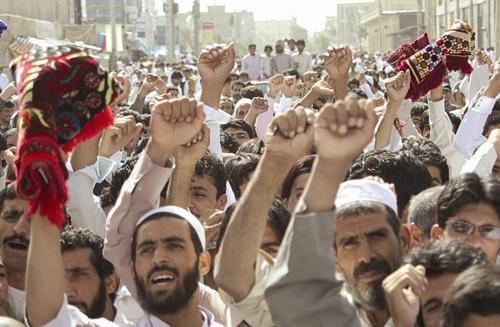 اعتراض مردم به حملات تروریستی - زاهدان