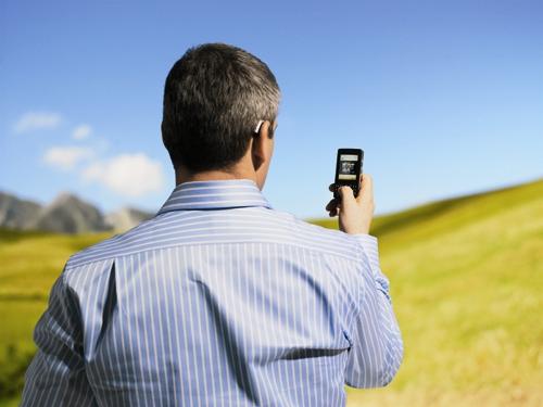 مرد - موبایل