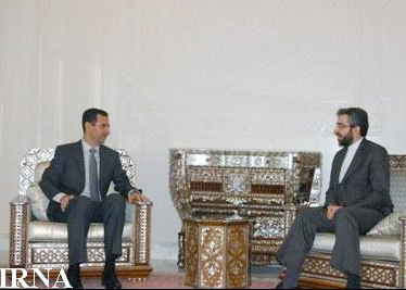 دیدار معاون دبیر شورای عالی امنیت ملی ایران با رئیس جموری سوریه