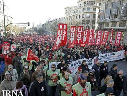 اعتراض به افزایش سن بازنشستگی در اسپانیا