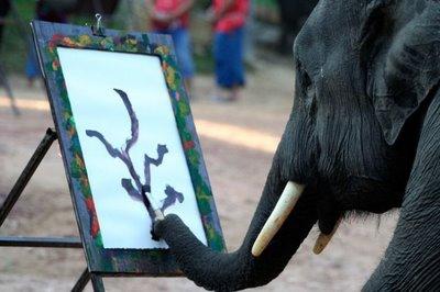 فیل نقاش
