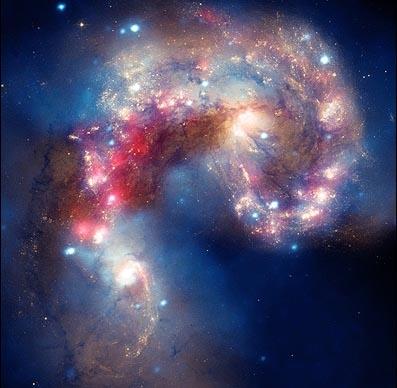 ناسا پرتره برخورد کهکشانی را منتشر کرد