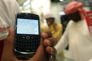 middle east blackberry crackdown