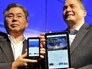 sharp unveils book reader and tablet