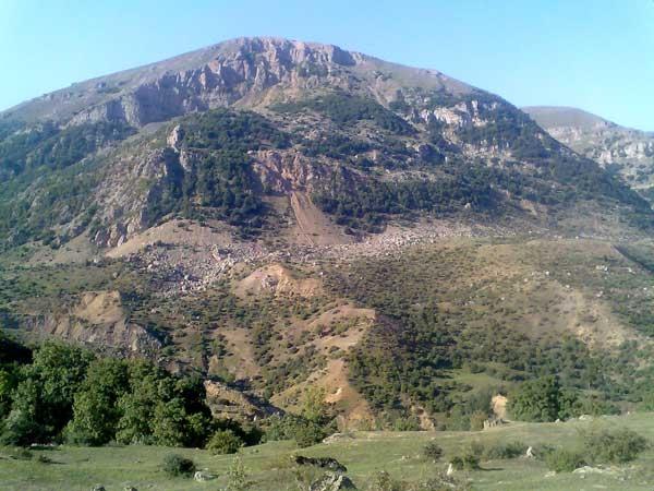 زرد تله کوهی زیبا درنظرگاه جنوب وربن