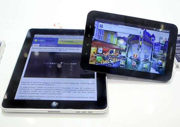 تبلت شرکت سامسونگ در کنار آیپد اپل