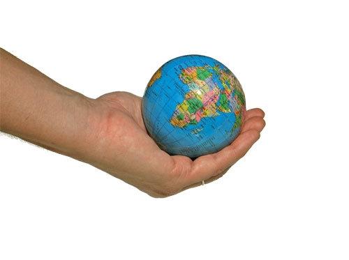 دست - کره زمین