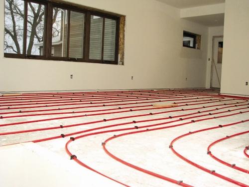 صرفهجویی با سیستم گرمایش کف خانه