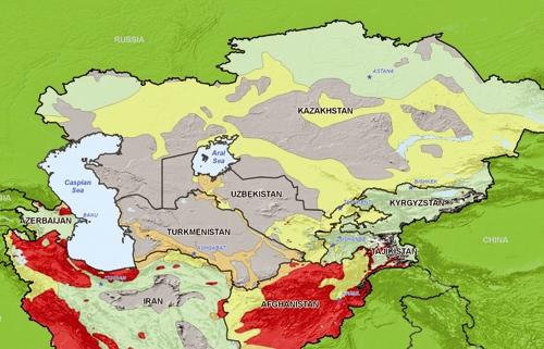 نقشه - آسیای مرکزی