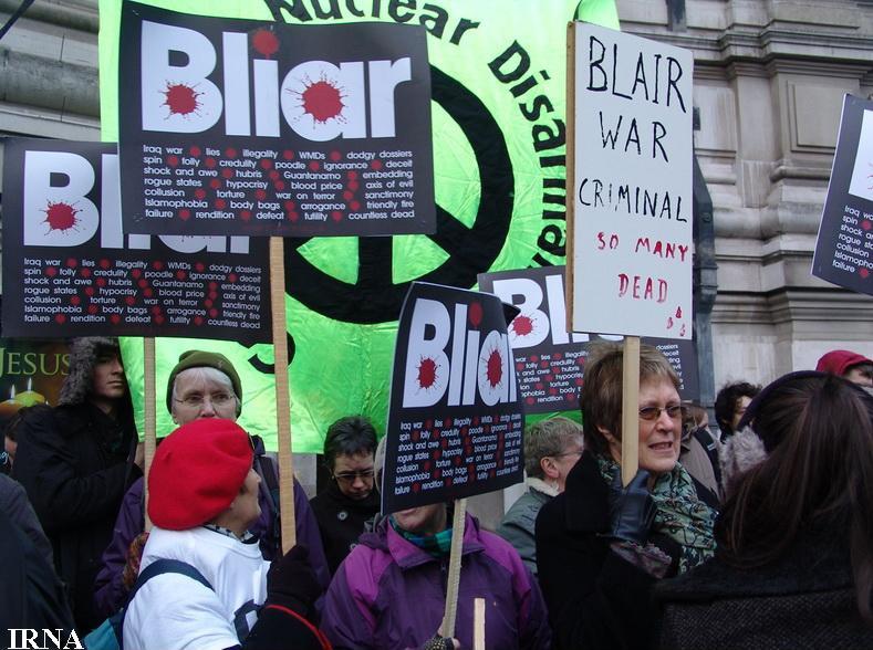 فعالان ضدجنگ انگلیس خواستار محاکمه تونی بلر شدند