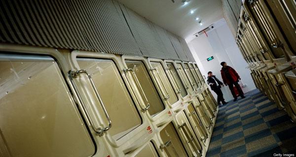 تصاویر هتل کپسولی شانگهای