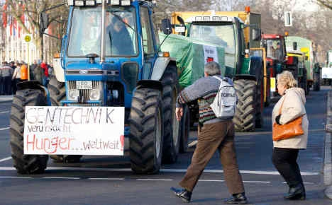 تظاهرات هزاران آلمانی علیه رسوایی آلودگی مواد غذایی