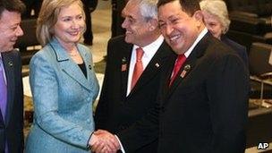 کلینتون و چاوز