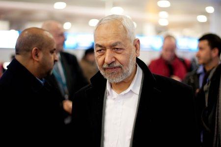 راشد الغنوشی رهبر حزب نهضت اسلامی تونس