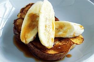 آشنایی با روش تهیه نان تست فرانسوی با دارچین و موز