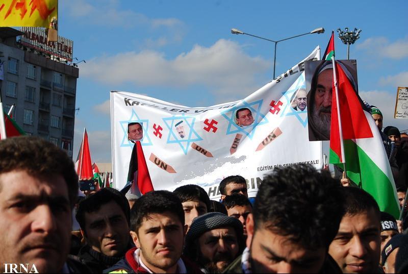 حمایت هزاران نفر در ترکیه از تظاهرکنندگان مصری