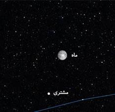 مقارنه ماه با مشتری