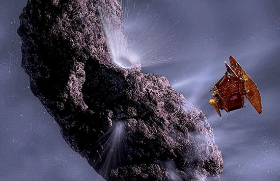 اقیانوس یخی مشابه اقیانوسهای زمین بر روی یک ستاره دنباله دار