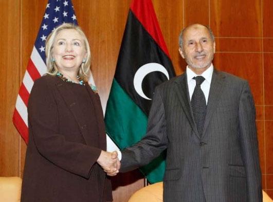 دیدار وزیرخارجه آمریکا با سران شورای انتقالی لیبی