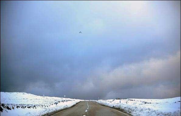 اولین برف پاییزی ارتفاعات گرگان
