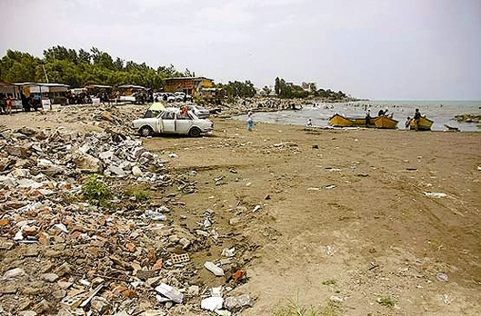 زباله - ساحل دریای خزر