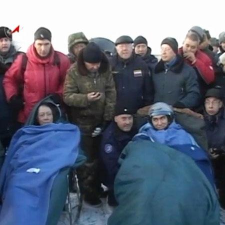 فرود فضاپیمای روسی در قزاقستان