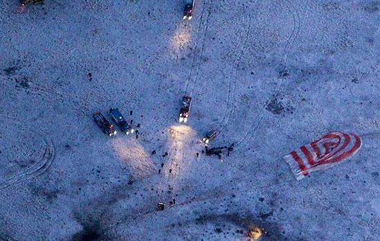 گزارش تصویری بازگشت سه سرنشین ایستگاه فضایی