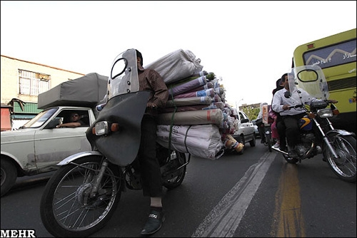 جزئیات جرائم حمل بار توسط موتورسیکلت