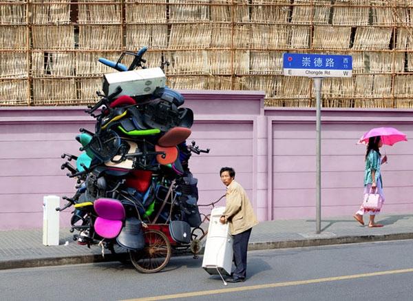 تصاویر جالب از پیک سهچرخه در چین