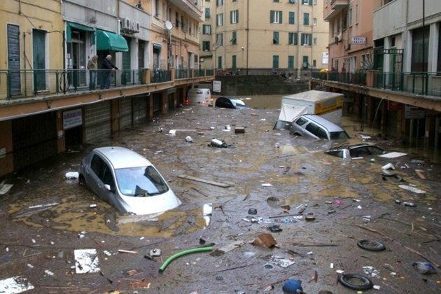 flood in Genoa