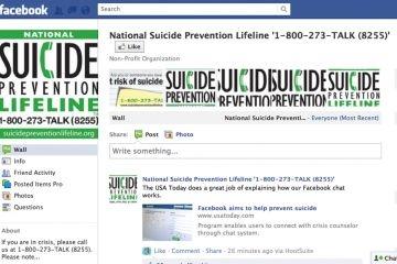 ابزار پیشگیری از خودکشی در فیسبوک