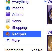 google recipe search