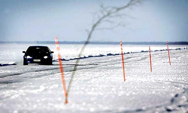 طولانیترین جاده یخی دنیا