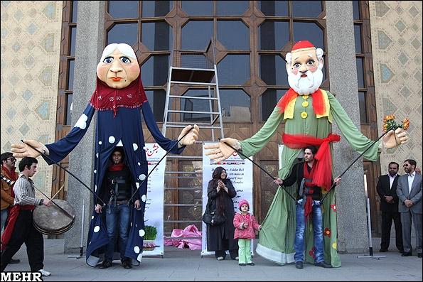 عروسکهای عمو نوروز و ننه سرما رونمایی شدند