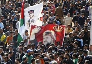 Regierungsanhänger in Amman