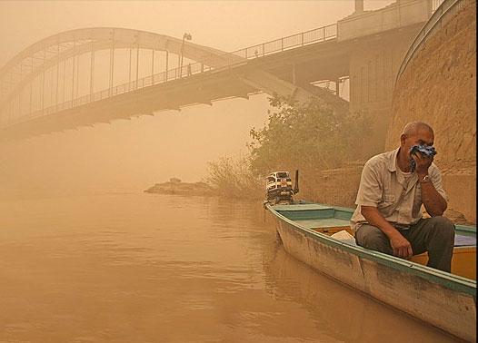 گرد و غبار غلیظ سراسر خوزستان