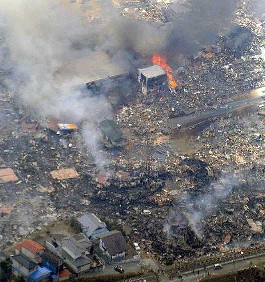 earthquake in Kesennuma